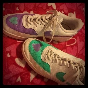 Unisex Nike court vision lowtop size 10w/8m